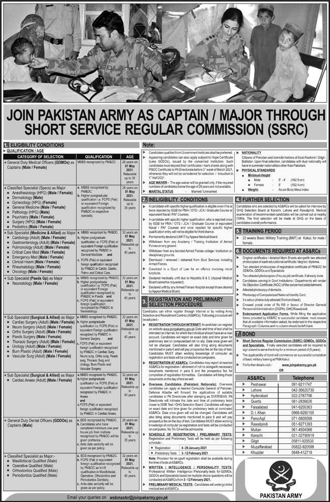 Join Pak Army as Captain