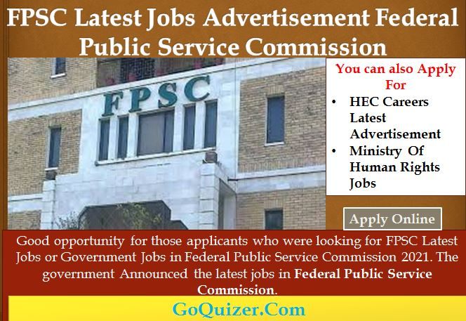 FPSC Latest Jobs