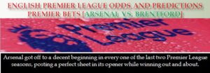 English Premier League Odds and Predictions