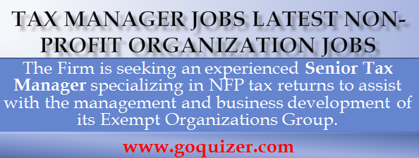 Tax Manager Jobs